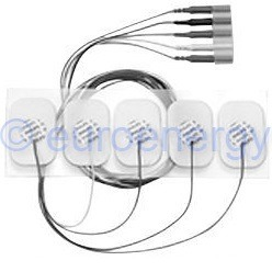 Philips Adult disposable radiolucent 5 electrode lead set, IEC Original Medical Accessory 989803156271 06699