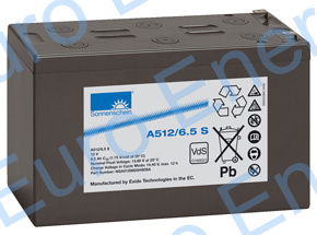 Sonnenschein Dryfit A512-6.5S Sealed Lead Acid Gel Battery 04267