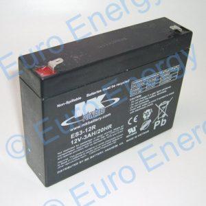 MK ES3-12RAGM Sealed Lead Acid Battery 04271