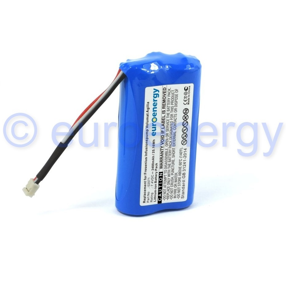 Compatible Fresenius Agilia Volumat Infusion Pump Z179033 medical battery 02071