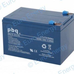 PBQ 15-12 LiFePO4 12.8v 15Ah Lithium Ferro Phosphate Battery 04730