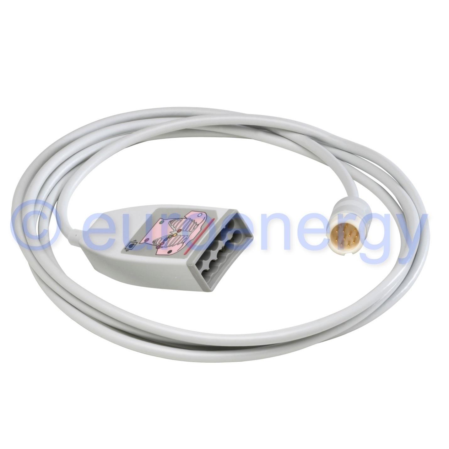 Philips 5+5 ECG IEC 10-lead AAMI / IEC Original Medical Trunk Cable M1949A / 989803125831