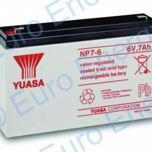 Yuasa NP7-6 AGM Sealed Lead Acid Battery 04116
