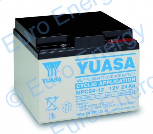 Yuasa NPC24-12I AGM Sealed Lead Acid Battery 04145