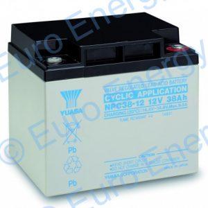 Yuasa NPC38-12 AGM Sealed Lead Acid Battery 04146