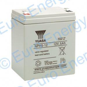 Yuasa NPH5-12 AGM Sealed Lead Acid Battery 04160