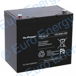 Yuasa YPC55-12 AGM Sealed Lead Acid Battery 04191